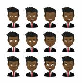 Male avatar expression set — Stockvektor