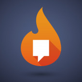 Flame icon with a tooltip — Stock Vector