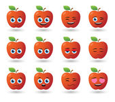 Apple avatar expression set — Vecteur