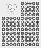 Set of 100 universal icons of business, science, health, securit — Stock Vector