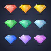Sada ikon diamond — Stock vektor