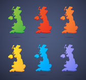 United Kingdom map icon set — Stock Vector