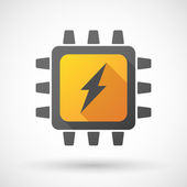CPU icon with a lightning — Stock Vector