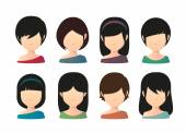 Female asian faceless avatar  — Stock Vector
