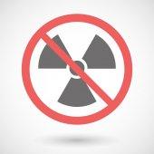 Forbidden signal with a radio activity sign — Stock Vector