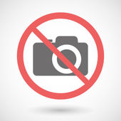 Forbidden signal with a photo camera — Stockvektor
