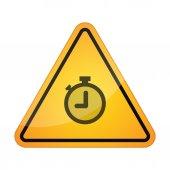 Danger signal icon with a timer — Vector de stock