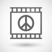 Photographic film icon with a peace sign — Stock Vector