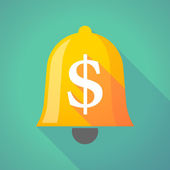 Bell icon with a dollar sign — Stock Vector
