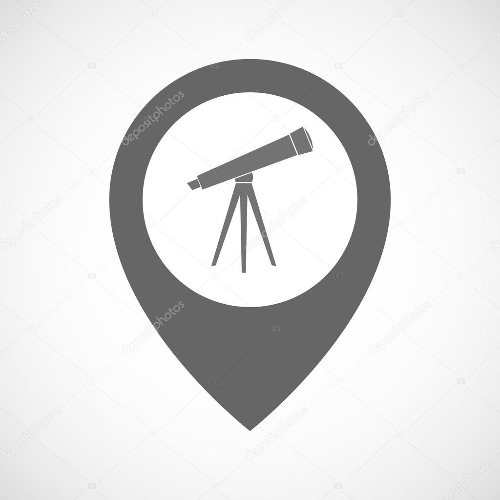 孤立的地图标记用望远镜 — 图库矢量图像08 jpgon