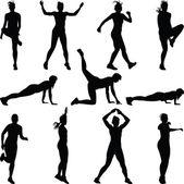 Fitness kvinna — Stockvektor