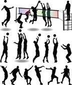 Jugadora de voleibol — Vector de stock