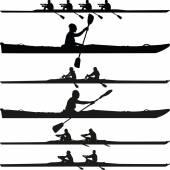 Kayak silhouette vector — Stock Vector