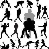 American football player — Stock Vector
