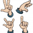 Set of hand signs — Stock Vector #58707137