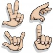 Set of hand signs — Stock Vector #58707201