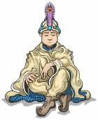 Wise sultan — Stock Vector