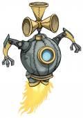 Space robot — Stock Vector