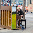 Постер, плакат: Playing piano in public