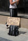 Panhandling for Pot — Stock Photo