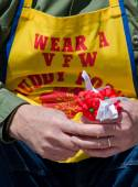 Veterans of foreign wars fund raiser and Buddy Poppies — Stock Photo