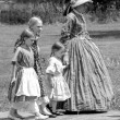 ������, ������: Mother and girls in antique costumes
