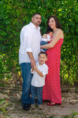 Outdoor family portrait  mom and her boys — Foto de Stock