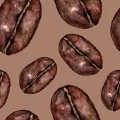 Seamless pattern with cofee grain — Stock Photo