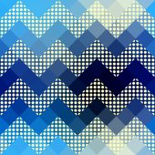 Chevron pattern with dots. — Stock Vector