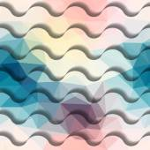 Waves with shadows pattern. — Stock Vector