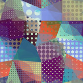 Geometric patchwork pattern. — Stockvector