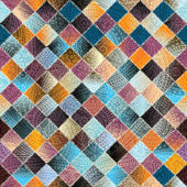 Patchwork pattern from small squares — Stockvector