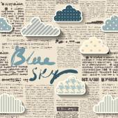 Newspaper with clouds. — ストックベクタ
