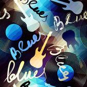 Blues music — Stock Vector