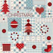 Christmas background in patchwork style. — Stok Vektör