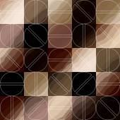 Coffee pattern in retro style — Vettoriale Stock