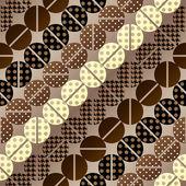 Coffee pattern in retro style — Stock vektor