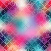 Grunge diagonal mosaic on blur background. — Stock Vector