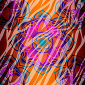 Mandala symbol seamless pattern — Stock Vector