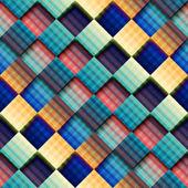 Abstract geometric pattern with diagonal plaid. — Cтоковый вектор