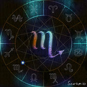 Scorpio astrological symbol — Stock Vector