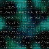 Dark green matrix pattern with the imitation of dots — Stock Vector