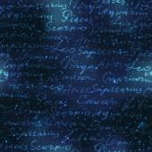 Original inscriptions of zodiacs names — Stock Vector
