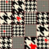 Patchwork of houndstooth — Stock Vector