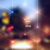 Blur lights city background — Stock Vector