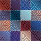 Satin patchwork — Stock Vector