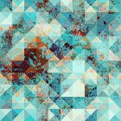 Patrón geométrico con efecto grunge. — Vector de stock