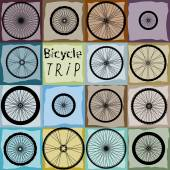 Pattern of bycicles wheels. — Stock vektor