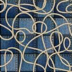 Patchwork of denim fabric. — Stock Vector #69077877