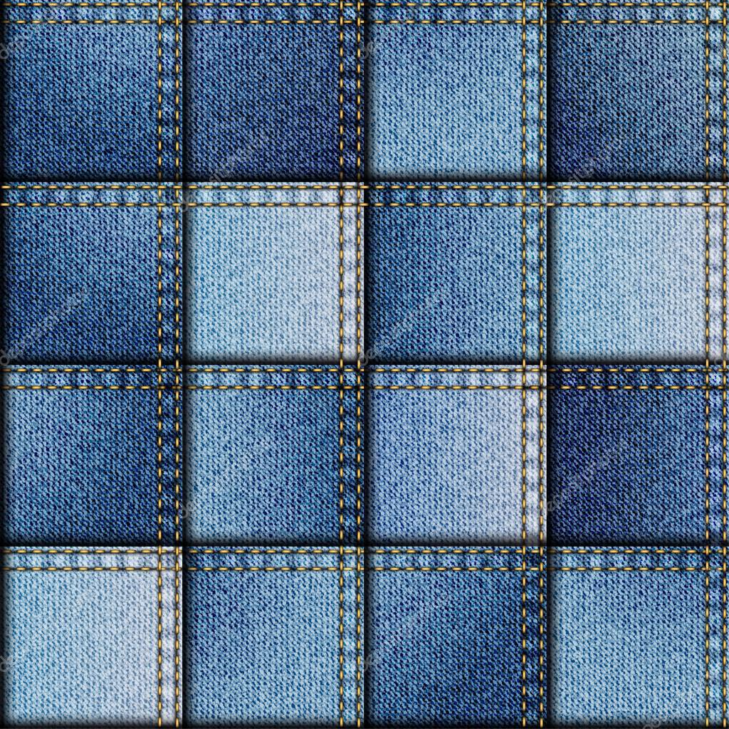 Patchwork of denim fabric stock vector kastanka 69077957 for Denim fabric